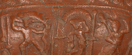 Detail of a Samian ware bowl