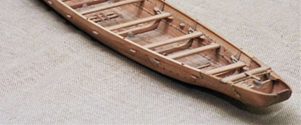 model of the Ferriby boat