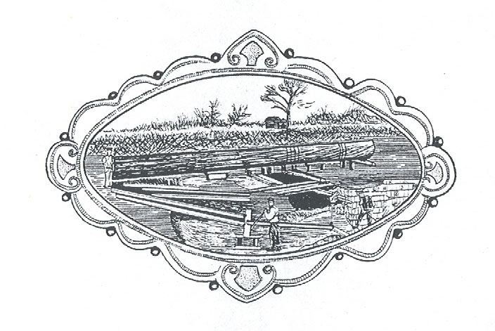 Silver brooch depicting the discovery of the Brigg logboat